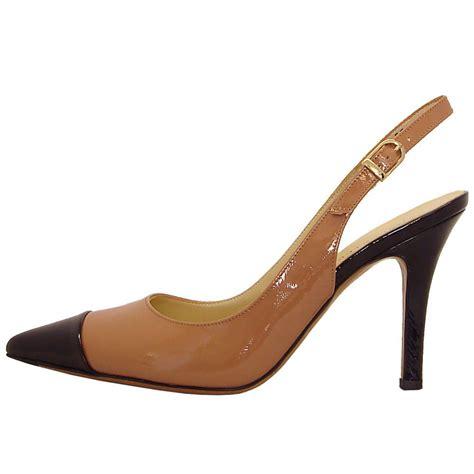 slingback high heels kaiser dona slingback heels caramel and black