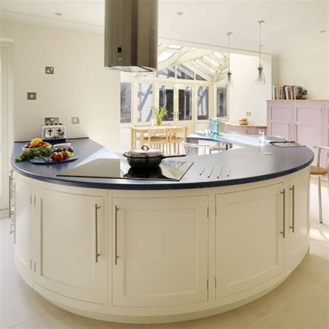 curved kitchen islands statement peninsula be inspired by a spacious kitchen