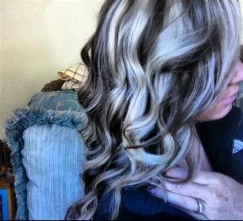 platinum hairstyles with some brown platinum highlights and dark brown lowlights hair change
