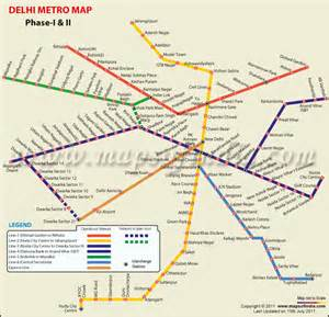 Metro Map by Pics Photos Delhi Metro Map