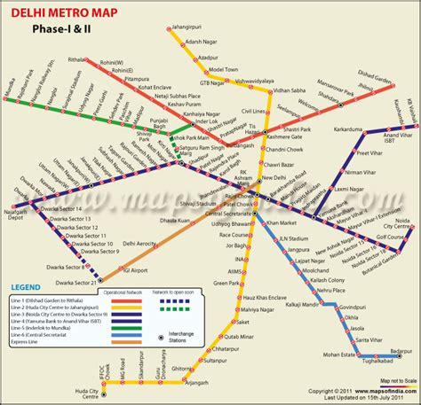 metro map delhi metro map