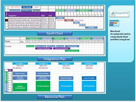 blue excel blue excel is deisgned to create gantt chart