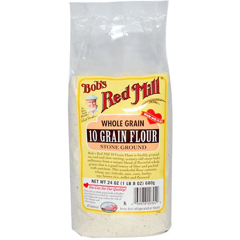 whole grains flour bob s mill 10 grain flour whole grain 24 oz 680 g