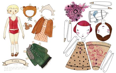 Paper Doll Craft - mollymoocrafts paper dolls and printables for