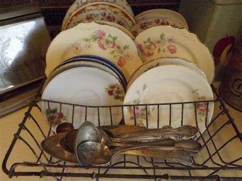 shabby chic dish drainer i display the vintage dishes i collect in vintage metal