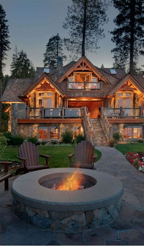 rustic cabin decor dream home pinterest old tahoe house by ooa design beautiful the natural and