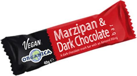 Organica Chocolate Includes Vegan Bars by Marzipan And Chocolate Bar In 40g From Organica