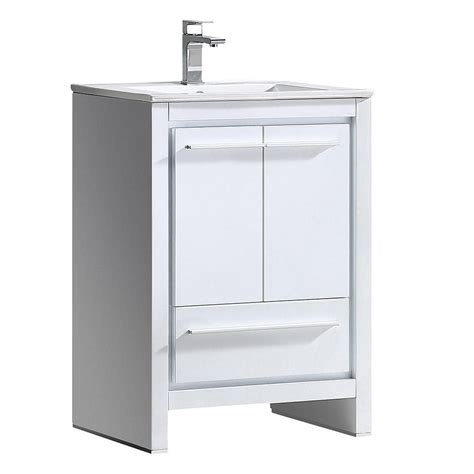 white bathroom sink cabinet allier 24 quot white modern bathroom cabinet w sink
