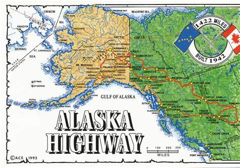 alaska canada highway map maps alaska highway map