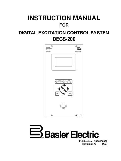Basler DECS 200 Instruction Manual | Electromagnetic