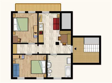 Piantina Appartamento by Appartamento 3 Agriturismo Sor 228 A San Vigilio