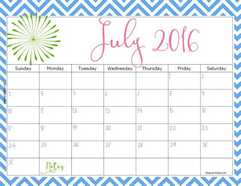 free printable monthly calendar july 2016 2016 free printable calendar free printable calendar