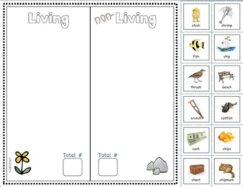 Living And Nonliving Things Worksheets Pdf by Living Non Living Cut Paste Phonics Focus