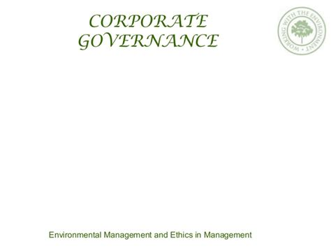 Mba Degree Business Ethics And Corporate Governance by Business Ethics And Corporate Governance