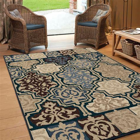 Large Indoor Area Rugs by Orian Rugs Indoor Outdoor Geometric Yandell Multi Area