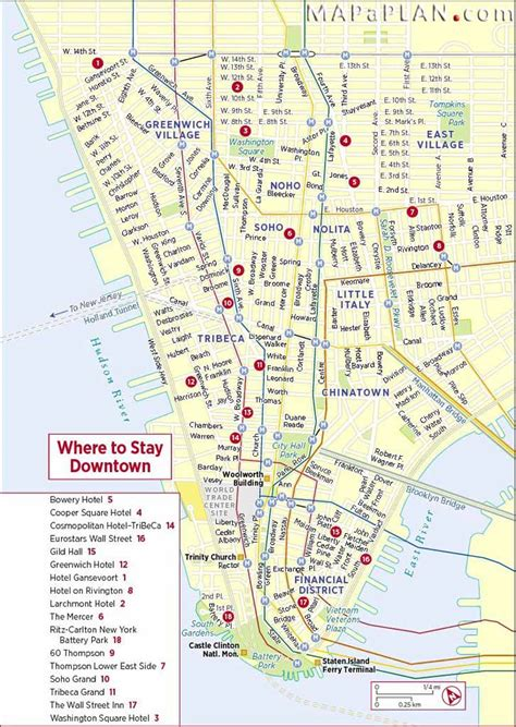 downtown new york city map maps of new york top tourist attractions free printable