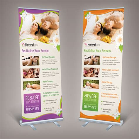 design banner spa spa billboard roll up banner on behance