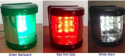 boat navigation lights set marine boat green starboard red port side stern led
