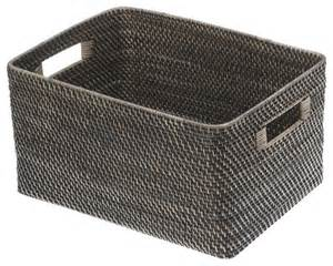 shelving with baskets for storage black antique rattan storage basket large contemporary