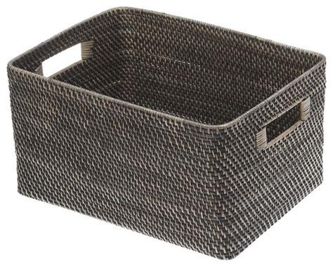 rev a shelf woven basket contemporary baskets by kouboo black antique rattan storage basket reviews houzz