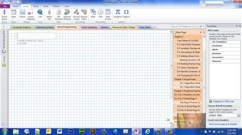templates for onenote 2010 using page templates onenote 2010