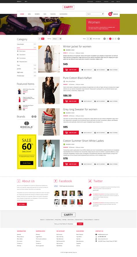 carty premium ecommerce psd template by bouncy themeforest