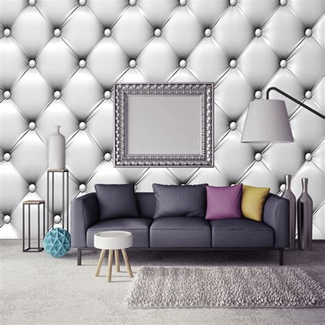 modern simple soft pack  stereo relief mural wallpaper
