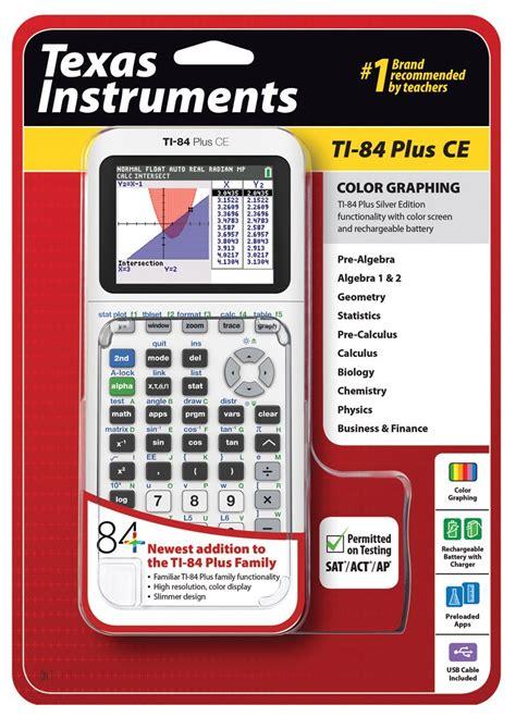 ti 84 color instruments ti 84 plus ce graphing calculator white