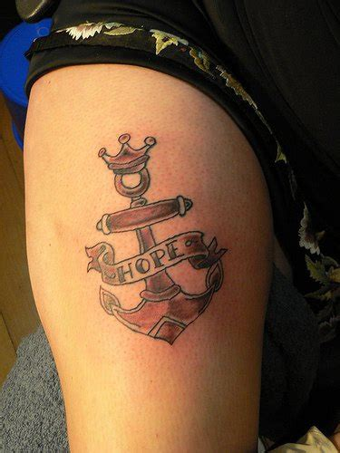 old school tattoo words old school anchor tattoo with hope word tattooimages biz