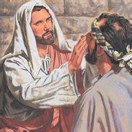 Jesus Healing Blind Jesus Heals A Blind Man Liahona Feb 2002 Liahona