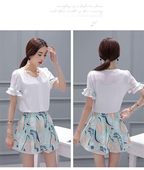 Setelan Atasan Wanita Blouse Baju Rok Payung Motif Butterfly Set Fit L baju setelan rok motif cantik terbaru model terbaru