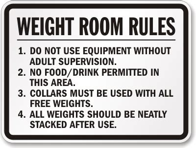 rule the room weight room signs weight room signs sku k 4027