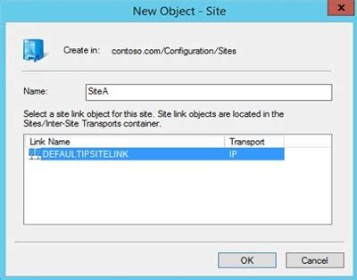 step  step setting  active directory sites subnets