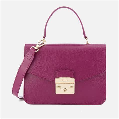Furla Metropolis Top Handle furla metropolis small top handle bag in purple lyst