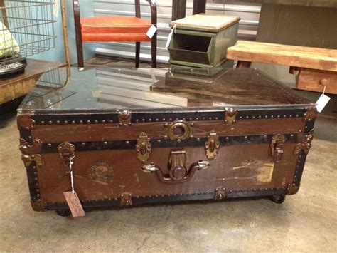 antique trunk coffee tables vintage trunk coffee table make it work