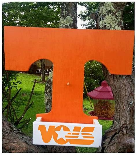 university of tennessee vols home decor by gdaykreations university of tennessee vols power t bird feeder home
