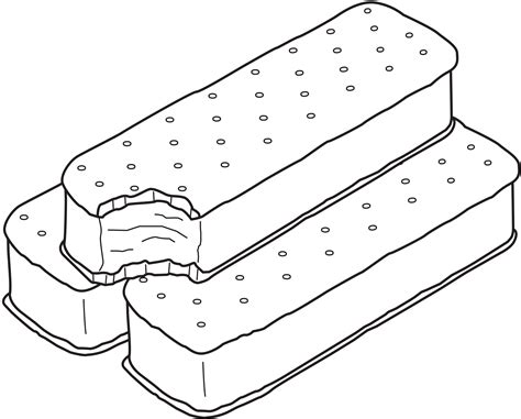 Ice Cream Sandwich Coloring Page | sandwich ice cream coloring pages coloringsuite com