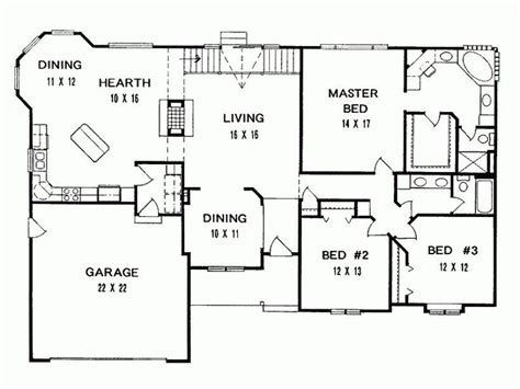 Ranch 3 Bedroom House Plans new 3 bedroom ranch house floor plans new home plans design