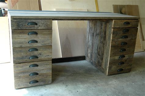 made reclaimed oak wood desk by wooden it be