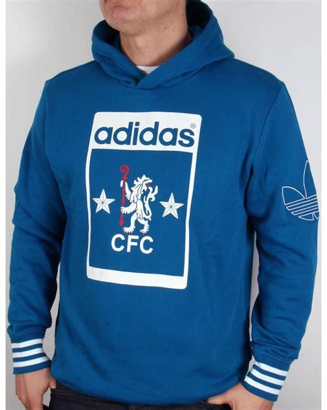Sweater Hodie Logo Chelsea adidas originals chelsea fc oh hoody royal blue track