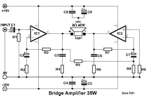 bridged lifier diagram bridged lifier with lm1875 diyaudio