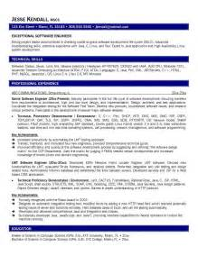 Career Objective In Resume For Experienced Software Engineer Mechanical Engineer Resume Example 2016 2017 A Template