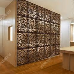 Decorative Partitions by Chinese Hanging Floding Screen Divider Wood Carved