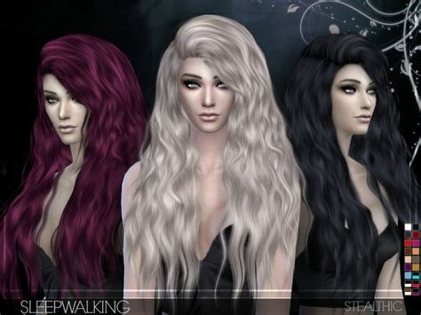 the sims resource stealthic captivated hair sims 4 the sims resource sleepwalking female hair by stealthic