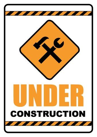 underconstruction template construction sign template how to make an