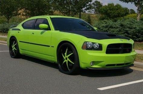 sublime green dodge charger for sale purchase used 2007 dodgecharger sublime green srt8