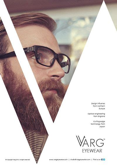 graphic design advertising layout varg eyewear advertisements by ross sweetmore on inspirationde