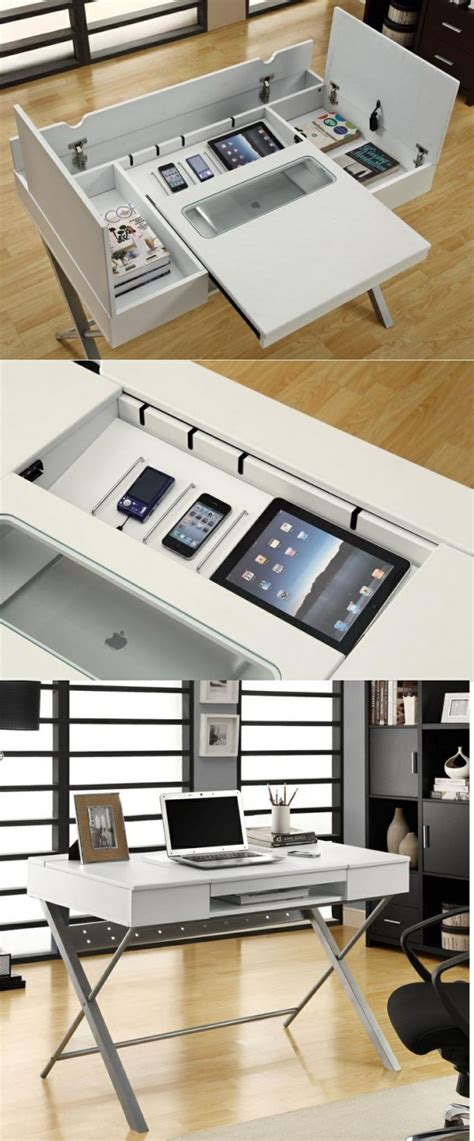 desk with charging station interior design ideas