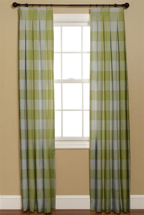 green checked curtains chinoiserie chic green checks meg braff curtainsmade4u