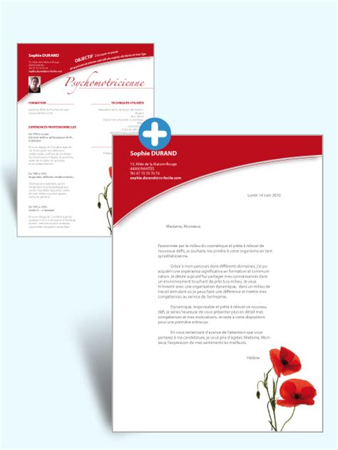 Lettre De Motivation Design Graphique Stage Mod 232 Le Cv Lettre De Motivation Psychomotricienne
